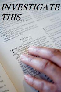 BIBLEinvestigate