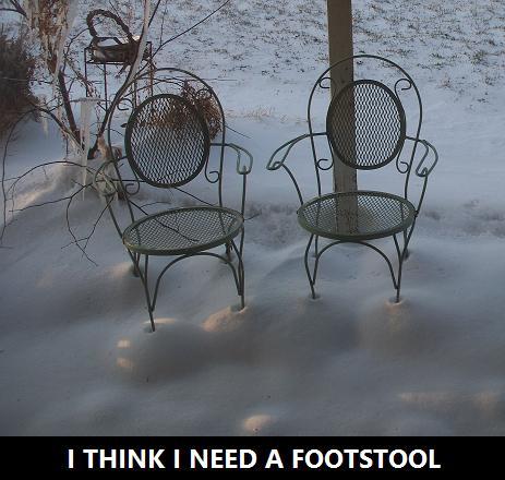 SNOW FOOTSTOOL