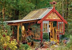 Shed with porch