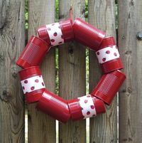 Craft tin can wreath