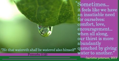 Verse WATER Proverbs 11-25