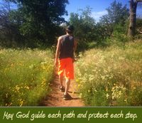 Jordan on path Prayer