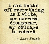 Writing anne frank