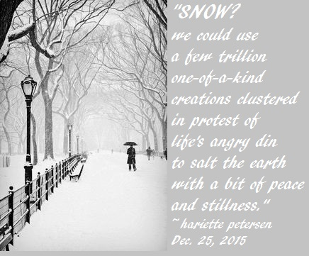 Snow and stillness