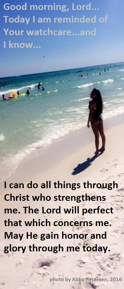 Abby can do through Christ